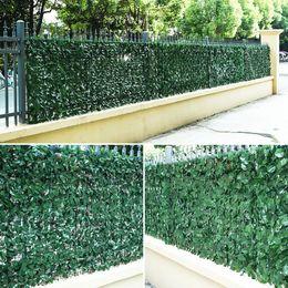 Deco Plants Australia - 100x100cm Green Grass Artificial Turf Plants Garden Ornament Plastic Lawns Carpet Wall Balcony Cane Fence For Home Deco