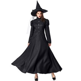 Wholesale women witch costumes for sale – halloween Black Wizard of Oz Witches Mother and Child Dress Costumes Cosplay For Girls and Woman Halloween Party Dress Costume