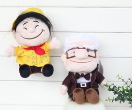 wholesale doll houses NZ - Flying House Tour Travels Carl Karl Ferdinson Old Lady Plush Toy 20 CM Plush Doll Toys Wholesale
