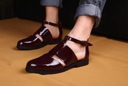$enCountryForm.capitalKeyWord Australia - mens cool sandals summer closed toe cutout italian sandals shoes 2019 gladiator fashion runway beach shoes