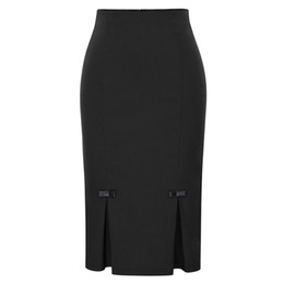 $enCountryForm.capitalKeyWord UK - Pencil Rock Summer Women Vintage Bow Knots Office Skirts Hips Wraps High Waist Bodycon Women Skirt Y19071501