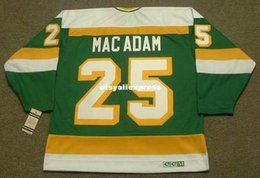 Al Stars Australia - custom Mens AL MACADAM Minnesota North Stars 1979 CCM Jerseys Vintage Cheap Retro Hockey Jersey