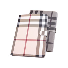 china fashion accessory NZ - For Apple iPad Air mini Pro case Lattice Cover With Card Slots Business Stand Flip PU Leather Protective Skin Case Tablet Accessory