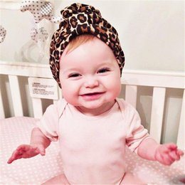 $enCountryForm.capitalKeyWord Australia - New Europe Infant Baby Boys Girls Hat Kids Elastic Wrinkled Dotnut Turban Hat Children Cotton Leopard Hats
