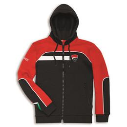 Moto Gp Black Red NZ - Moto GP racing printing cotton red black motocross hoodie jacket men's cotton zipper sweatshirt
