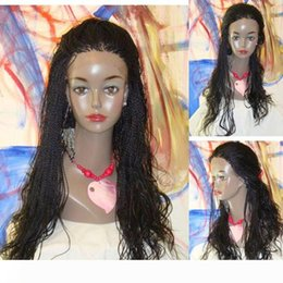 twisted wig UK - 10-30inch Senegalese twist lace front wigs Long Braid Wig Synthetic Braided Lace Wig Glueless Heat Resistant Hair Women Wigs