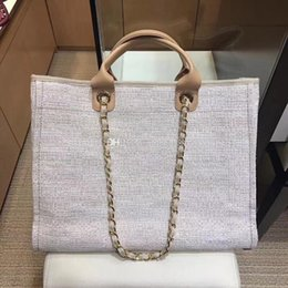 $enCountryForm.capitalKeyWord NZ - Excellent Quality 2018 Greece Canvas Cambon Beach Bag 39cm Large Tweed Shopping Tote Women's Fashion Shoulder Bags Handbag