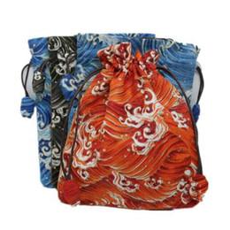 $enCountryForm.capitalKeyWord NZ - High End Drawstring Large Handmade Fabric Bag Jewelry Gift Packaging Bags Linen Cloth Prayer beads Bracelet Storage Pouch