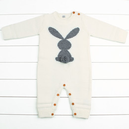 b326b0c9e9 Newborn Boys Rompers Cute Animal Rabbit Knit Baby Girls Jumpsuits Spring  Fall Infant Kids Overalls Autumn Toddler Bunny Clothing Q190518