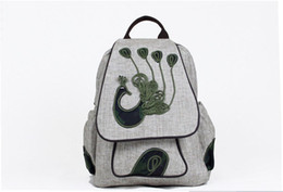 Hand Made Bags Style Australia - 2019 new fashion large bags shoulders bags for women and girls hand-making cotton and linen Art style of high quality backpack Colle