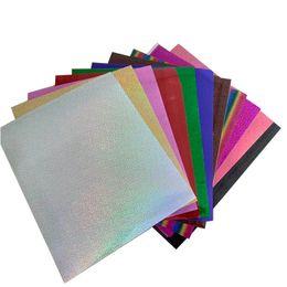 Groihandel Freies Verschiffen 1 Blatt A4 20cmx30cm Laser-Wärmeübertragung-Vinylsilber-Regenbogen-Laser-Eisen auf Film HTV T-Shirt