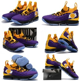 af9988580609 Lebron trainers online shopping - 2019 New LeBron XV EP Los Angeles Home  Yellow Purple Orange