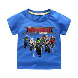 Children White Tees UK - 2018 Children Ninjago Clothing Boy Summer Costume Girls Shorts Tees Tops Clothes Kids Cartoon Print T-shirts Baby T Shirts