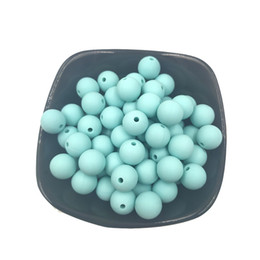 necklace teether Australia - 100pcs Silicone Beads 15mm Round Shaped Teether BPA Free Food Grade DIY Baby Teething Jewelry Necklace Nursing Accessories