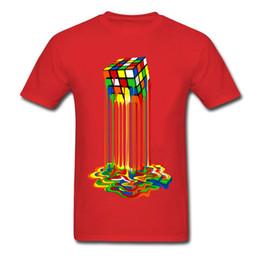 Ropa de diseñador para hombre marca polo Camisetas de alta calidad Pure  Cotton Student T Shirt Summer Men Rubik Cube camiseta color derretido  cuadrado ... 2e69b573881