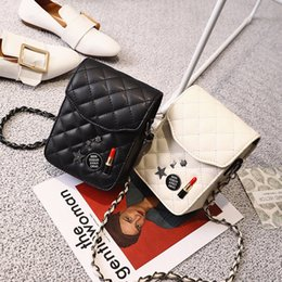 Mini Computer Brand NZ - 2019 Brand Design Pu Leather Mini Women Crossbody Bags Sequined Lady Girls Phone Purse Bags Black Color 300