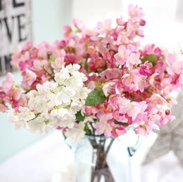 $enCountryForm.capitalKeyWord Australia - Artificial Flowers Silk Cherry Flower Fake Plum Peach Blossom Decorative Flowers Hotel Bouquet Wedding Home Decorations 5 Colors YW3567