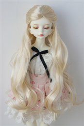 Wig Grey Australia - 7-8inch Alice Fantasy Synthetic Mohair Wigs MSD Resin Doll Wig 1 4 BJD Doll Accessories Brown Grey and Blond Wig JD028