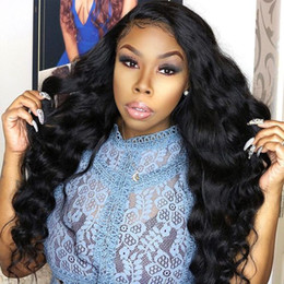 Discount women straight human hair wigs - 10A Loose Deep Brazilian Hair Straight Human Hair Wigs with Baby Hair Deep Wave Curly 4*4 Lace Front Wigs Body Wave For