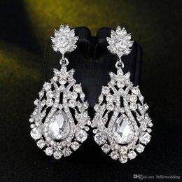 $enCountryForm.capitalKeyWord Australia - New Bridal Earrings with Crystals Rhinestones Water Drop Earring Bridal Jewelry Findings Wedding Accessories For Brides BW-027