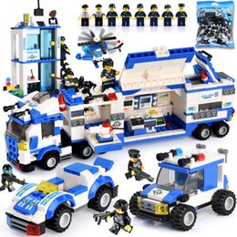 Kid Blocks Australia - 858Pcs Kids Toys City Street Police Station Car Truck Building Blocks Compatible LegoINGly Bricks Educational Toys Children Gift