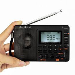 $enCountryForm.capitalKeyWord Australia - RETEKESS V115 Radio AM FM SW Pocket Radio Receiver Shortwave Speaker Transistor Receiver Support TF Card USB REC Recorder