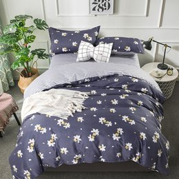Discount purple floral king size bedding - Floral Pattern Bedding Set Adult Soft Cotton Bed Linen Quilt Comforter Duvet Cover Double Queen King Big Size 24