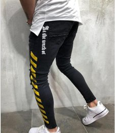skinny jeans for plus size men Canada - Mens Ripped Jeans 2019 Fashion Luxury Designer Men s Clothing Jeans Para Hombre Skinny Pants Plus Size pour femmes jeans for men