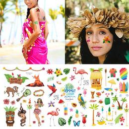 bc10d1755 6 Photos Art de surf ? vendre-Autocollants De Tatouage D'été Chaud Hawaii  Taty Pour