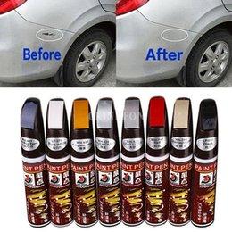 Venta al por mayor de DHL 500 UNIDS 5 Colores 12 ml Nuevo Profesional Pintura de Reparación de Pintura de Coche Pluma Impermeable Fix It Pro Clear Car Pintura Remolques de Rayas Plumas