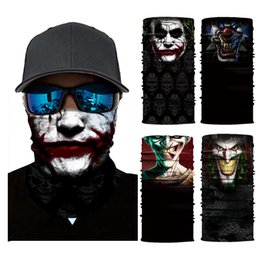 Face white cream online shopping - Movie Clown Anime Skull Magic Scarf D Seamless Tube Neck Gaiter Face Shield Sport Cycling Fishing Warmer Bandana Headband Scarf