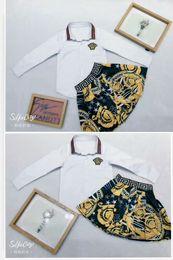 $enCountryForm.capitalKeyWord Australia - hot kid clothing set black white classical designer sweater + pants dresses brand cheap autumn warm fashion clothes for little girl boy