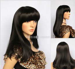 cheap good wigs NZ - FREE SHIPPING ++ New lady wig good quality women wigs long straight black cheap synthetic