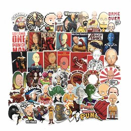 Wholesale 50 Japanese Anime ONE PUNCH MAN Stickers For Car Laptop Phone Skateboard Motorcycle Bicycle Cartoon PVC Sticker B