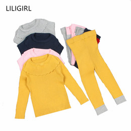 Baby Boys Knit Vest Australia - 2 years Toddler Baby Pullover Clothes Sets for Girls Long-Sleeve Knit Sweater and Boys Top Pants Pajamas Overalls
