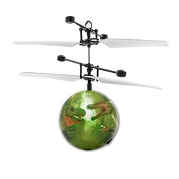 $enCountryForm.capitalKeyWord Australia - Dinosaur RC Flying Ball Drone Helicopter Ball Built-in Shinning LED Lighting for Kids Toy RC Helicopters
