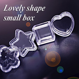 Clear Heart Boxes Australia - Nail Art Tiny Box acrylic clear container Star Square Round Heart for DIY Perfume Accessory Jewelry beads plastic storage