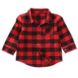 $enCountryForm.capitalKeyWord UK - Spring Summet Plaids Checks Blouse Baby Kids Boys Girls Long Sleeve Striped Shirt Clothes Outfit