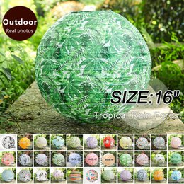 Chinese lantern birthday party online shopping - 16 quot Tropical Rain Forest Chinese New Year Paper Lanterns home decorations Birthday Party Festive Outdoor Activities lampshade hanging lantern
