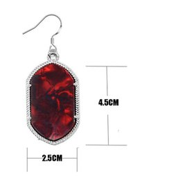 Gold 18k Shop Australia - European and American personality big shop shop earring gold edge fluorescent surface acrylic geometry eardrop female restore ancient ways a