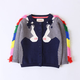 $enCountryForm.capitalKeyWord Australia - 2019 Girls Sweater Toddler Kids Baby Girls Outfit Clothes Tassel Horse Knitted Sweater Kids Cardigan Coat Tops for Girl Clothing