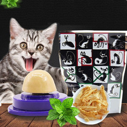 $enCountryForm.capitalKeyWord UK - Cat Solid Nutrition Gel Energy Ball Stick to the Wall Toy Catnip Sugar Ball Nourishes Inside Cat Snacks Licking for Kitten