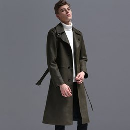 $enCountryForm.capitalKeyWord Australia - 2019 NEW Men Autumn Winter Warm Trench Suede Fabric Long Style Coat Loose Fit Casual Jackets Lapel Collar Fashion Male Parka