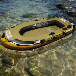 e12e2e43224d fishing 2 Person fish boat 218*110*36cm PVC inflatable boat fishing kayak  paddle pump carry bag backpack dinghy raft A06001