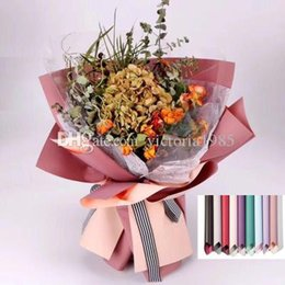$enCountryForm.capitalKeyWord Australia - 40*45cm 20pcs lot Flower Wrapping Paper Waterproof Double sided Packaging Material Solid Color Florist Art Wedding Bouquet Gift Decor