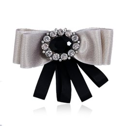 $enCountryForm.capitalKeyWord Australia - Bowtie Bow Brooch Collar Rhinestone Pins And Brooches Music Gifts Party Shirt Collar Accessories Broches For Men