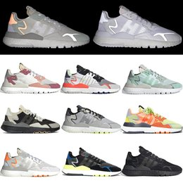 $enCountryForm.capitalKeyWord Australia - breathable nite jogger mens tennis running shoes joggers 3M Reflective jogging solid grey triples white woemens trainers designer sneakers