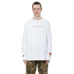 White undershirts online shopping - Heron Preston HP ctnnb Men Women Long T shirts bulid your own future harajuku Undershirt kanye west tops clothes t shirt tshirt