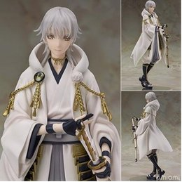 online dolls NZ - NEW hot 21cm Touken Ranbu Online Tsurumaru Kuninaga action figure toys collection christmas toy doll with box