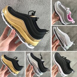 $enCountryForm.capitalKeyWord Canada - New Kids 97 OG Balck Pink boys girls Sneakers Triple White Silver Bullet Michigan Top Quality Children Sports Cheap Running Shoes 28-35